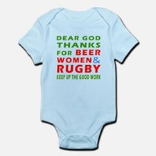 Beer Women and Rugby Infant Bodysuit
