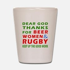 Beer Women and Rugby Shot Glass