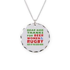 Beer Women and Rugby Necklace