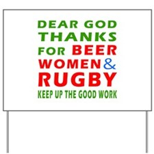 Beer Women and Rugby Yard Sign