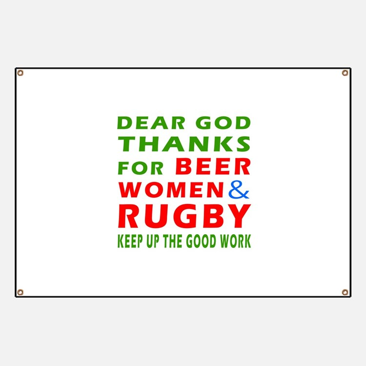 Beer Women and Rugby Banner