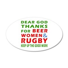 Beer Women and Rugby Wall Decal