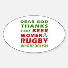 Beer Women and Rugby Decal
