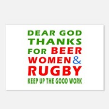Beer Women and Rugby Postcards (Package of 8)