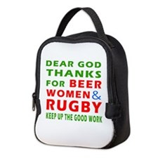 Beer Women and Rugby Neoprene Lunch Bag