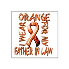 "I Wear Orange for my Father Square Sticker 3"" x 3"""