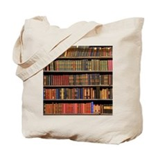 Old Books on Library Shelf Tote Bag