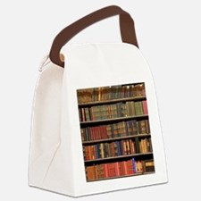 Old Books on Library Shelf Canvas Lunch Bag