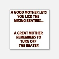 """2-GREATMOMBEATERS.LIGHT Square Sticker 3"""" x 3"""""""