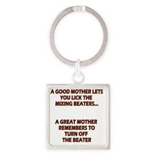 2-GREATMOMBEATERS.LIGHT Square Keychain