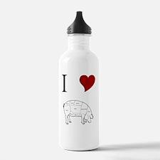 I-Heart-Pig Water Bottle