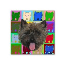 "Cairn Terrier Square Sticker 3"" x 3"""