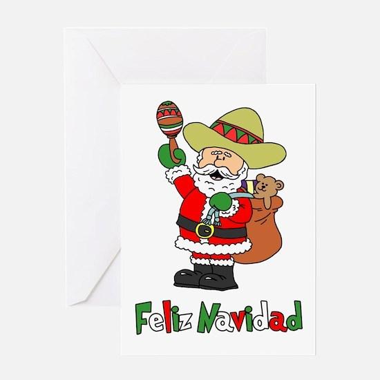 Feliz Navidad Santa Greeting Card