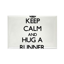 Keep Calm and Hug a Runner Magnets