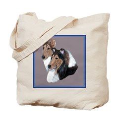 Smooth and Rough Collie Tote Bag