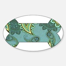 LARGE GREEN PAISLEY Decal