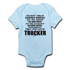 Freight Haulin' Trucker Infant Bodysuit