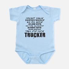 Freight Haulin' Trucker Infant Bodysuit