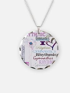 I Heart Rhythmic Gymnastics Necklace