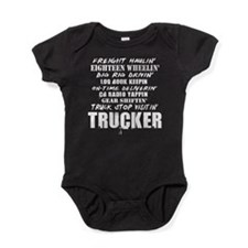 Freight Haulin' Trucker Baby Bodysuit