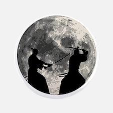 """Samurai Moon 3.5"""" Button"""