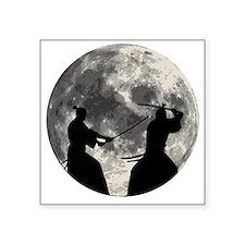 """Samurai Moon Square Sticker 3"""" x 3"""""""