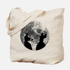 Samurai Moon Tote Bag