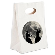 Samurai Moon Canvas Lunch Tote