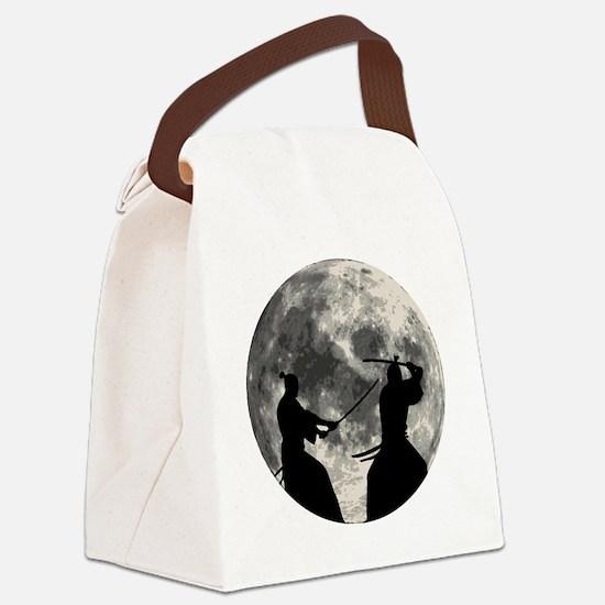 Samurai Moon Canvas Lunch Bag