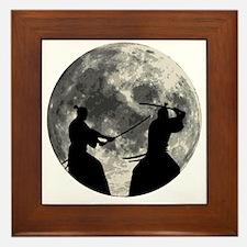 Samurai Moon Framed Tile
