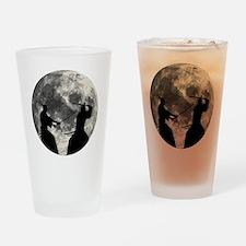 Samurai Moon Drinking Glass
