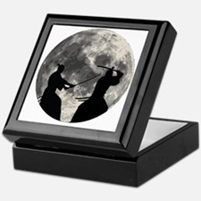 Samurai Moon Keepsake Box