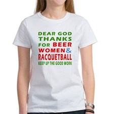 Beer Women and Racquetball Tee