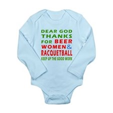 Beer Women and Racquetball Long Sleeve Infant Body