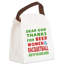 Beer Women and Racquetball Canvas Lunch Bag