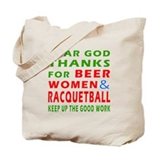 Beer Women and Racquetball Tote Bag