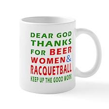 Beer Women and Racquetball Mug