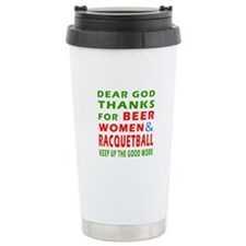 Beer Women and Racquetball Travel Mug