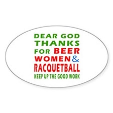 Beer Women and Racquetball Decal