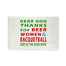 Beer Women and Racquetball Rectangle Magnet