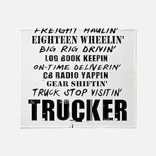 Freight Haulin' Trucker Throw Blanket