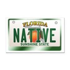 plate-native Rectangle Car Magnet