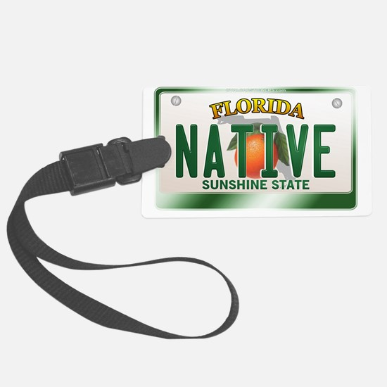 plate-native Luggage Tag