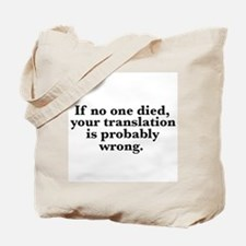 TranslationError Tote Bag