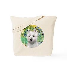 J-ORN-Irises-Westie-P Tote Bag