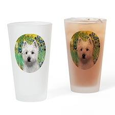J-ORN-Irises-Westie-P Drinking Glass