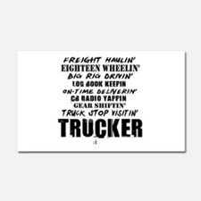 Freight Haulin' Trucker Car Magnet 20 x 12