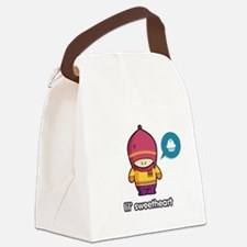 Sweet Thing PNK-PUR Canvas Lunch Bag
