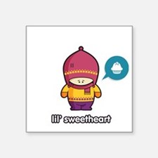 "Sweet Thing PNK-PUR Square Sticker 3"" x 3"""