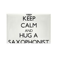 Keep Calm and Hug a Saxophonist Magnets